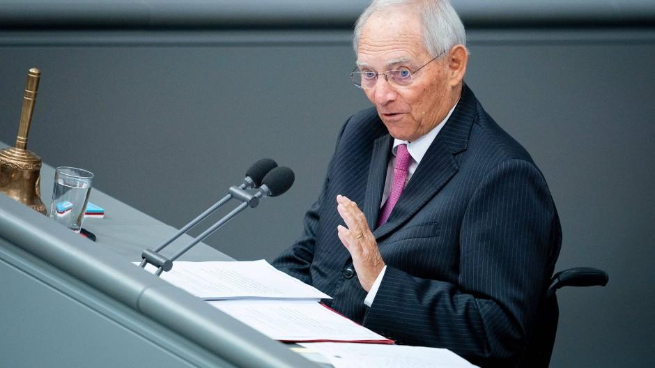 Fordert ein phantasievolleres Konjunkturpaket: Bundestagspräsident Wolfgang Schäuble (CDU)