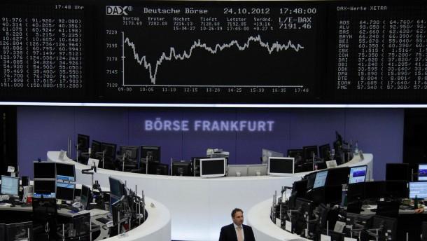 In Deutschland zeigen sich Aktienkäufer mutiger