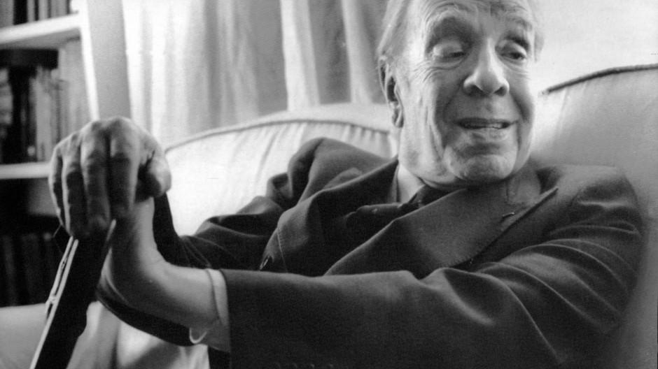 Jorge Luis Borges, aufgenommen im Jahr 1983 in Buenos Aires