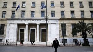 Renditen griechischer Staatsanleihen auf Jahrestief