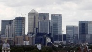 Im Londoner Finanzviertel Canary Wharf bangt man um die Zukunft der Immobilienbranche.