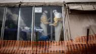 Ein Ebola-Behandlungszentrum in Kongo (Archivfoto)