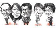 Von der Arbeit gezeichnet: Heiko Maas, Katarina Barley, Sigmar Gabriel, Barbara Hendricks und Brigitte Zypries.