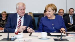 Merkel und Seehofer sondieren am 8. Oktober