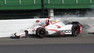 Schwerer Unfall von Bourdais in Indianapolis