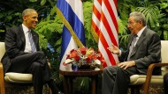 Barack Obama besuchte den kubanischen Präsidenten Raul Castro im März in Havanna. Geht das Tauwetter zwischen den beiden Ländern jetzt zu Ende?