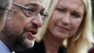 Schulz ist zuversichtlich, die Wahl zu gewinnen.