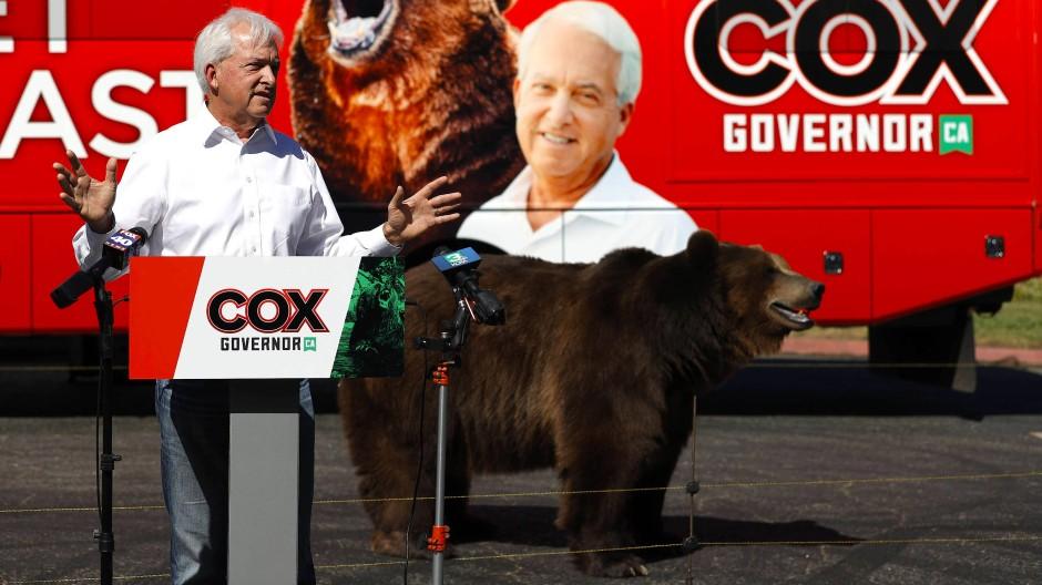 Der republikanische Gouverneurskandidat John Cox am Dienstag bei einer Wahlkampfveranstaltung in Sacramento.