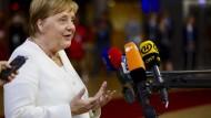 Merkel vor dem Marathon-Sondertreffen der EU in Brüssel am Sonntag