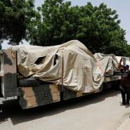 Das Wrack des Flugzeugs im Mai in Karachi