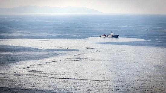 Ölteppich nach Schiffskollision