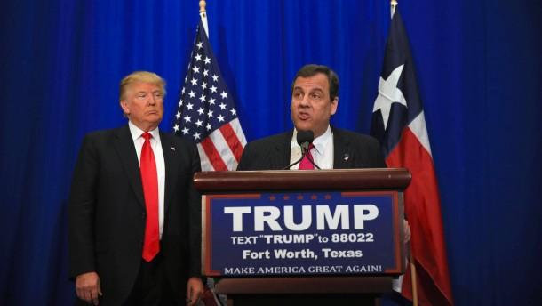 Gouverneur Christie will Trump als Präsidenten Amerikas