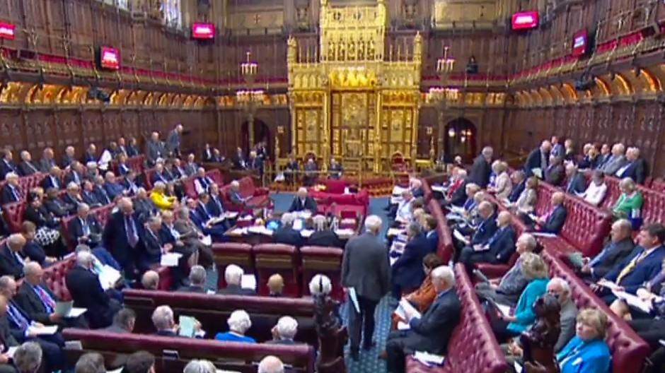 Das britische Oberhaus während der Debatte über eine Verschiebung des Brexit-Termins