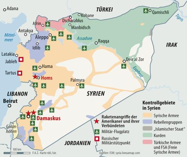 Syrien Karte Aktuell 2018.Bilderstrecke Zu Syrienkonflikt Militärschlag Zeigt Nicht Die