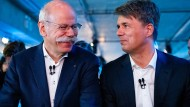 Unter Dieter Zetsche (links) und Harald Krüger kamen sich Daimler und BMW näher.