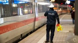 Polizei räumt ICE und Göttinger Bahnhof