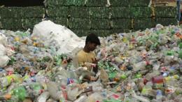 Eine Waschmaschine für Plastikmüll
