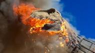 T-Rex in Flammen