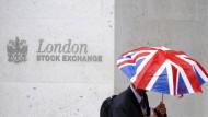 Vor der Londoner Börse.