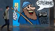 Ein Graffiti in Glasgow