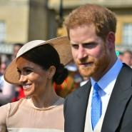 Der erste Auftritt als Ehepaar: Prinz Harry und Meghan auf der Gartenparty im Buckingham-Palast