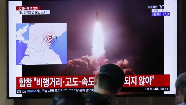 Nordkorea hat wieder Flugkörper abgefeuert
