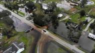 Die Überschwemmungen, wie hier in Leland, Nord Carolina, werden sich noch ausbreiten.