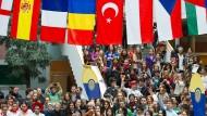 Mehr Mobilität als Hauptaspekt der Bologna-Reform: Studenten der Europa-Universität Viadrina informieren am International Day über ihr Auslandsstudium.
