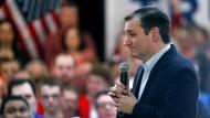 Der republikanische Präsidentschaftsbewerber Ted Cruz bei einem Wahlkampfauftritt in Kansas City