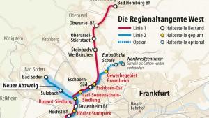 Neue Strecke für Regionaltangente