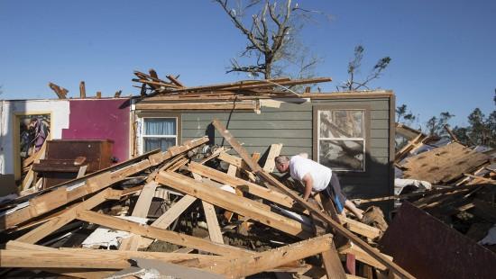 Stürme in Vereinigten Staaten sorgen für Verwüstungen