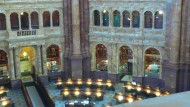 Blick in den monumentalen Innenhof der Library of Congress