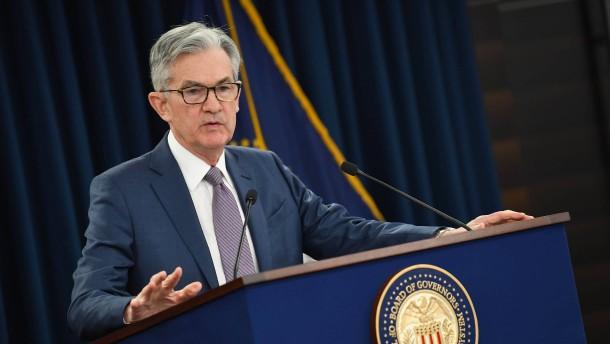 Fed senkt Leitzinsen auf fast null Prozent