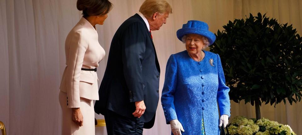 Die Queen Empfangt Prasident Trump Und First Lady Melania