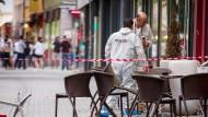 Mitten in der Reutlinger Innenstadt eskalierte der Streit zwischen dem Asylbewerber und seiner Arbeitskollegin.