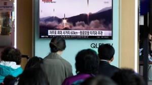 Nordkorea testet abermals Rakete