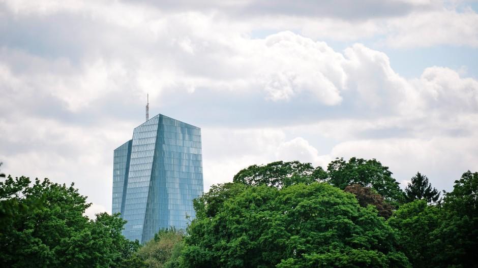 Die EZB im Frankfurter Ostend