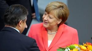 Gabriels vergiftetes Lob für Merkel