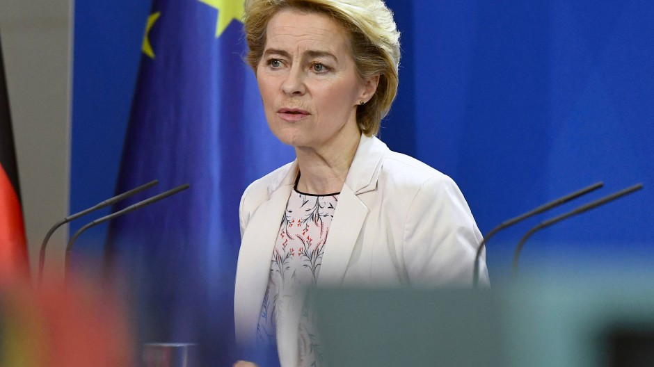 Ursula von der Leyen am 8. November im Berliner Kanzleramt