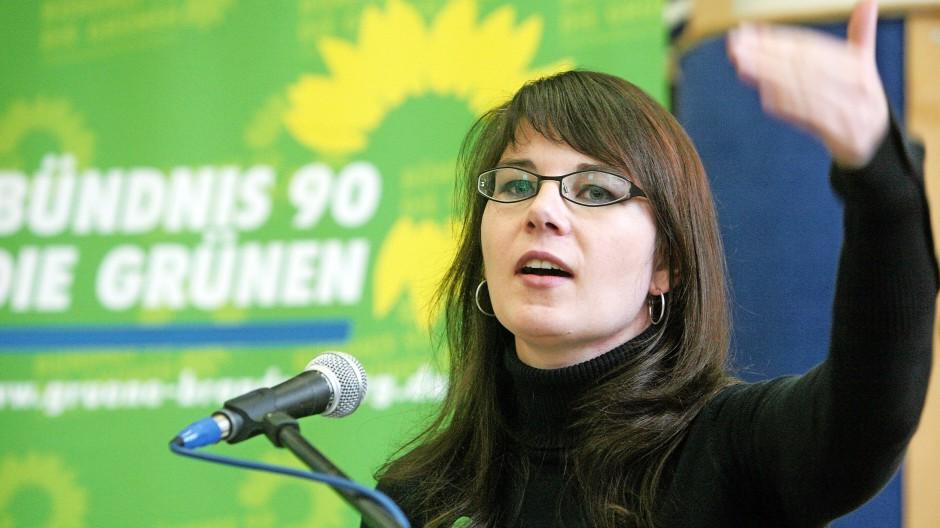 Die 28 Jahre alte Annalena Baerbock 2009 auf dem Landesparteitag von Bündnis90/Die Grünen in Angermünde (Uckermark).