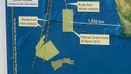 Suchgebiet nach MH370 weiter in den Norden verlegt