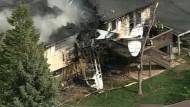 Flugzeug kracht in Haus in Colorado