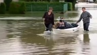 Großteile von Kroatien und Bosnien unter Wasser