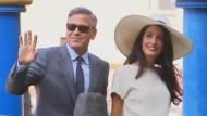 Clooneys Hochzeitsfeierlichkeiten gehen langsam zu Ende
