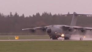 Erster A400M in Deutschland gelandet