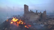 Buschfeuer wüten in Sibirien