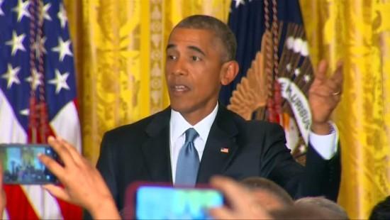 Wie Obama eine nervige Zwischenruferin loswird