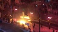 Ausschreitungen bei Protesten in Athen