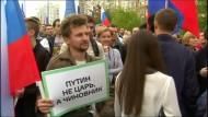 Tausende protestieren in Moskau für freie Wahlen