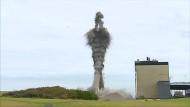Schornstein-Sprengung in Schottland